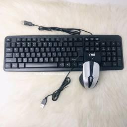 Kit teclado mouse com fio