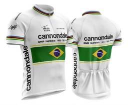 Título do anúncio: Camisa Ciclismo Masculina Cannondale Brasil Proteção Uv/uvb++