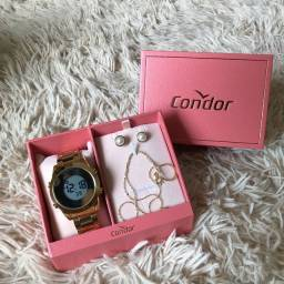 Kit relógio feminino condor