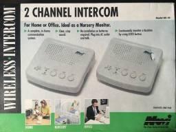Intercomunicador 2 canais para consultório ou escritório.