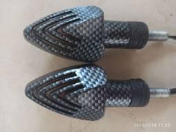 Setas para moto modelo fibra de carbono