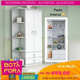 BOTA FORA JANEIRO / GUARDA ROUPAS INFANTIL BABY