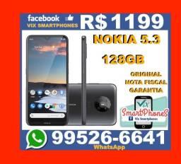 Lançamento T*O*P* Nokia 5.3 128GB Android_10 Bateria_4000 camera_dupla #-# 5242