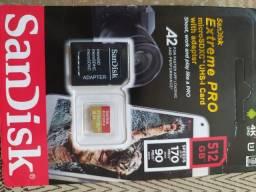 Cartão de memória 512GB Extreme PRO 4k UHD