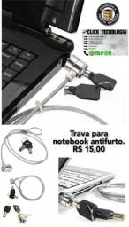 Trava para notebook antifurto