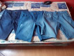 Bermudas jeans tamanho 48