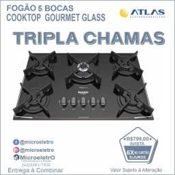 Fogão Cooktop 5 Bocas  Gourmet Glass DC5VTZ