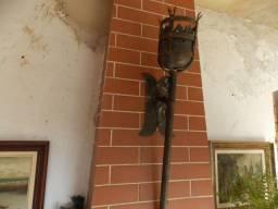 Tocheiro Antigo Rústico Medieval Arandela