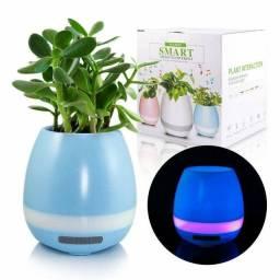 Bluetooth Speaker Música Inteligente Vaso com Luz LED