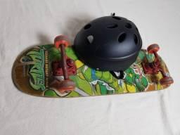 Skate das tartarugas ninja e Capacete Juvenil