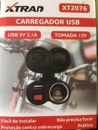 Tomada USB para Moto