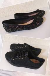 Tênis e sapatilha novos-ambos da molekinha-2 calçados por 55,00