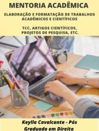 Elaboração e Formatação de TCC, Artigos, Projetos, etc