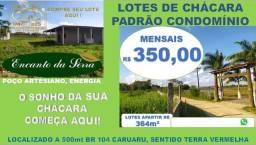Lotes de chácara padrão condomínio fechado em Caruaru