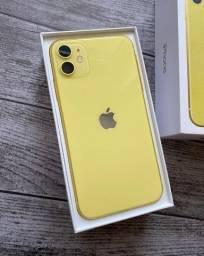 """iPhone 11 Apple (128GB) Amarelo Desbloqueado Tela 6,1"""" Câmera Traseira 12MP iOS"""