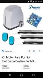 Kit portão eletrônico Peccinin flash 7 segundos instalado