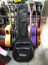 Bag Couro veludo Luxo capa para violão Folk