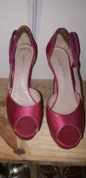 Sandália rosa salto alto n° 36