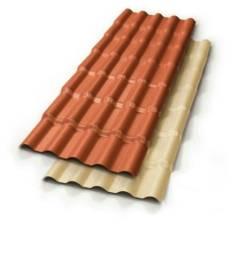 Telha Colonial Ecológica de PVC De 2,30 M X 0,88 M