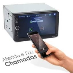 Imperdivel Dvd 2din Multimidia Bluetooth Usb Sd Tela 7 Pol Espelhamento