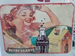 Título do anúncio: Placas de Metal Decorativa tema Coca Cola 41cm X 29,5cm