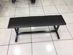 Banco Supino Musculacao Reto Exercicios Livre - Preto