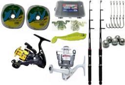 Kit de Pesca Molinetes Sol e Jimmy Marine Sports + Acessórios- Promoção comprar usado  Araucária