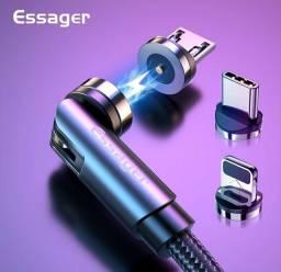 Cabo USB Magnético 360°, 3 em 1(2xsem juros)