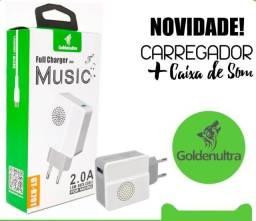 Caixa de som com tomada carregador de celular Goldenultra GT-R701