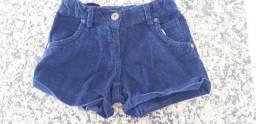 Shorts Infantil Azul Escuro.