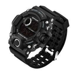 Relógio Masculino Sport Digital Sanda Led Preta Prova D'água.