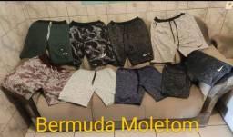 Bermuda moletom R$ 34,99/camuflada 39,99/  Calça moletom lisa R$ 34,99 / camuflada 44,00