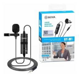 Boya Microfone Lapela By-m1 M1 P/ Câmera e Smartphone, iPhone Cabo 6m