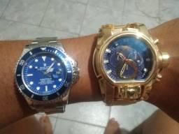 Dois relatórios Invicta e Rolex