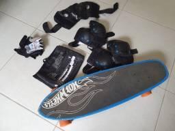 Skate + acessórios