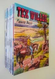 Lote com 14 Revistas Tex Willer