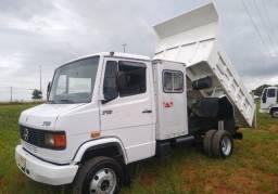 Título do anúncio: Mb 710/07 cabine auxiliar caçamba