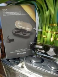 Smartwatch Y68 e Fone bluetooth Y30