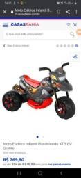 Moto infantil elétrica xt3 v6