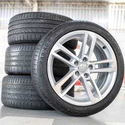 rodas 18 audi tt attractiom originais 5x112 pneu 245x40 18