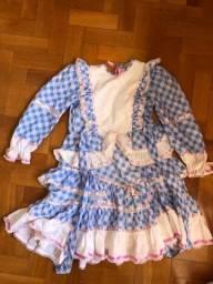 Vestido festa julina junina infantil