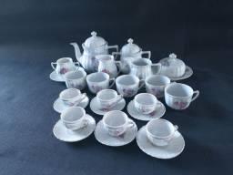 Aparelho de porcelana, chá e café