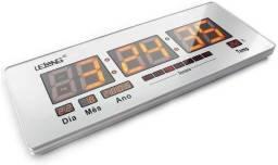 Título do anúncio: Relógio Parede Termômetro Digital 53cm Lelong - Loja Natan Abreu Serra
