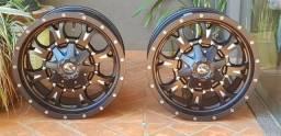 Rodas Fuel Krank Matte Black & Mille Especificas P/dodge Ram
