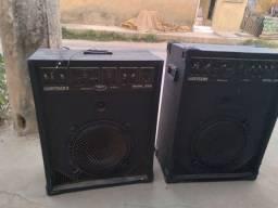 Caixa de som wattsom com rack mixer