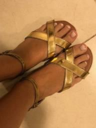 Sandalia dourada tamanho 38