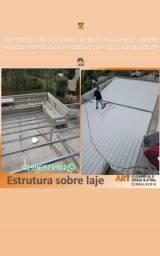 Cobertura residêncial,  Coberturas em policarbonato,  cobertura metálicas
