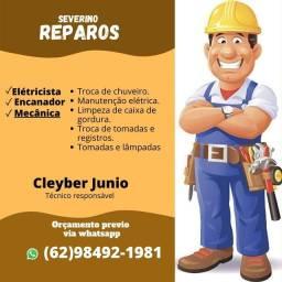 Eletricista e encanador.