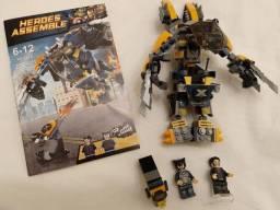 Robô Wolverine Heroes Assemble Lego compatível