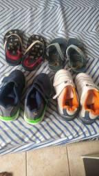 Lote de sapatos e sandália infantil menino